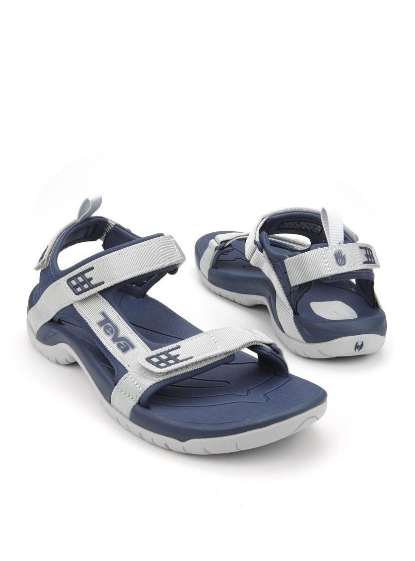 Chaussures Bleu Teva Avec Des Hommes De Fermeture Velcro ciElMi