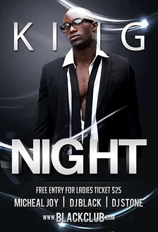 free king night psd flyer template free and premium club party