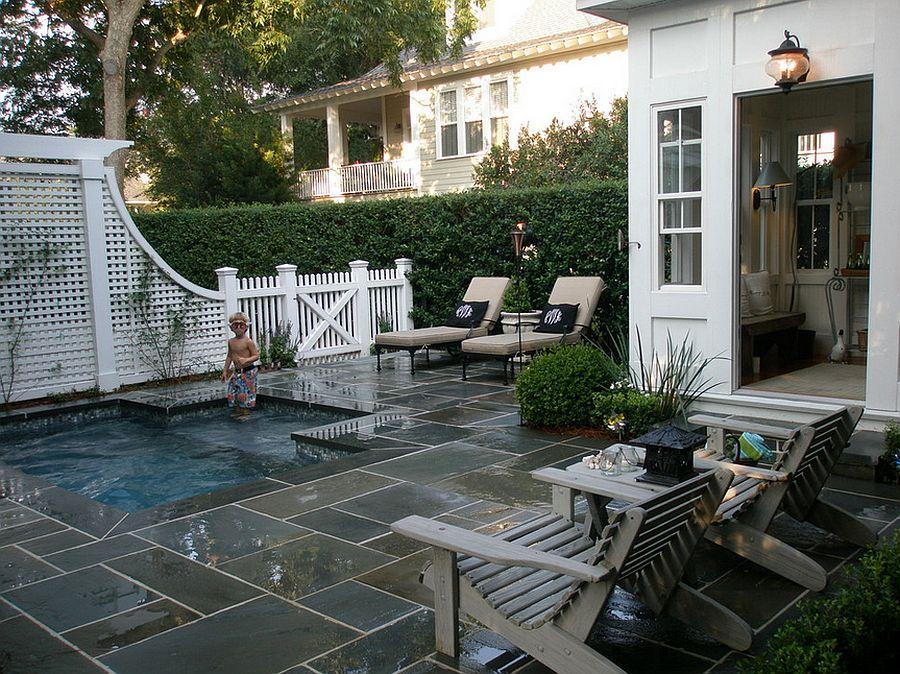 jardines pequeos con piscina en un jardn de pequeo tamao en el que todos los espacios sern reducidos deberemos aprender a ser selectivos - Jardines Pequeos Con Piscina
