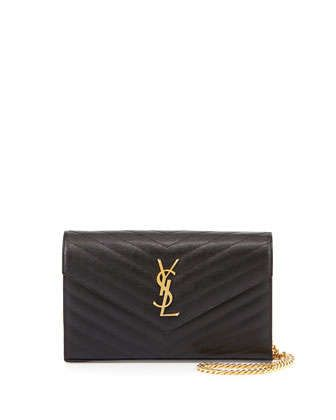 Monogramme Matelasse Shoulder Bag, Black by Saint Laurent at Neiman Marcus. $1490