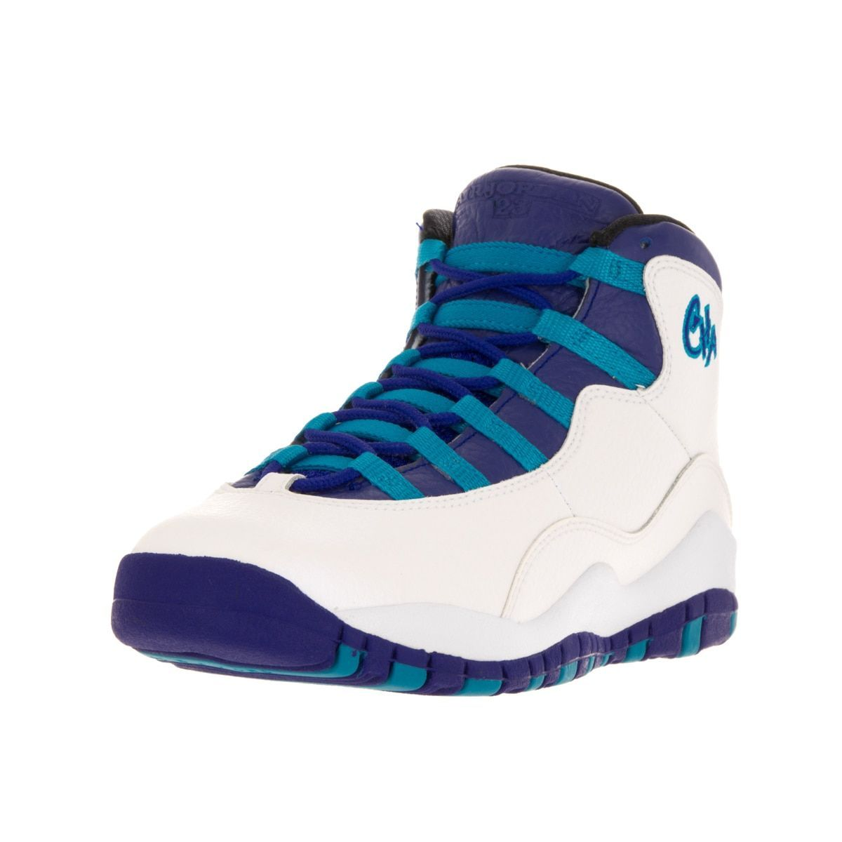 the latest 9d73c 8d720 Nike Jordan Kids Air Jordan 10 Retro Bg  Concord Blue Lagoon Black  Basketball Shoe