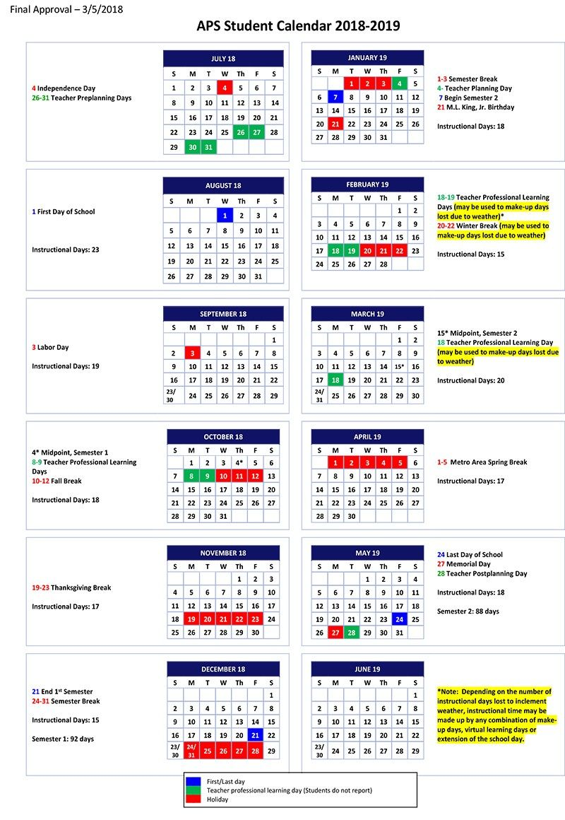 Howard County School Calendar With Holidays With Images School