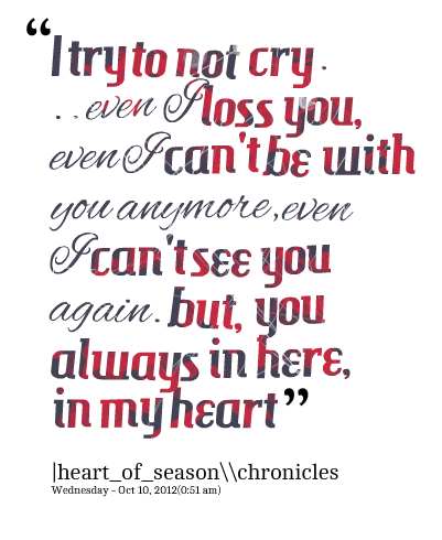Try or Try Not Quote   Quotes Picture: i try to not cry even i loss you, even i can't be with ...