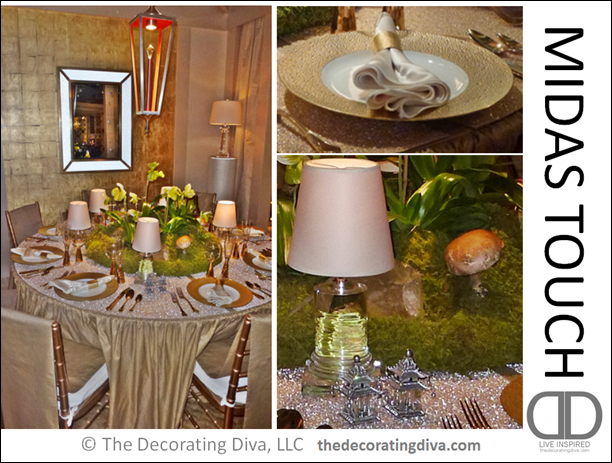 Midas Touch Table Decor Thedecoratingdiva Holiday Tabletop Ideas With Gold