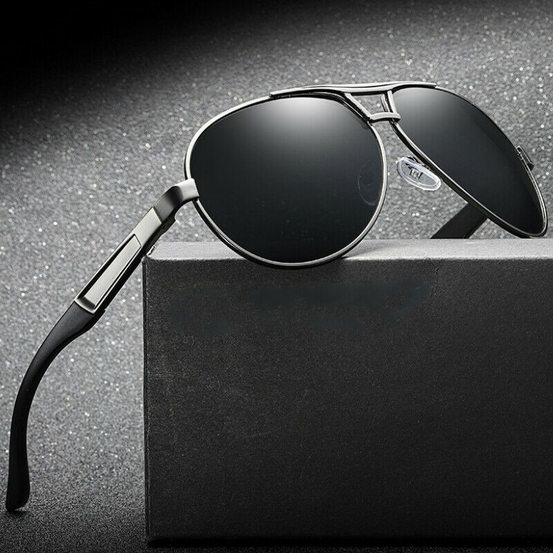 bab2a9216f Mens Polarized Sunglasses Retro Pilot Metal Outdoor Drving Eyewear Glasses   affilink  polarizedsunglasses  womensunglasses