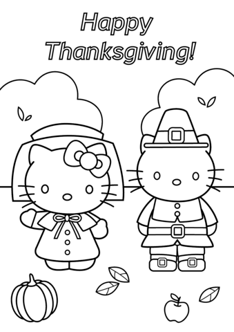 Hello Kitty Thanksgiving Coloring Page Hello Kitty Coloring Hello Kitty Colouring Pages Thanksgiving Coloring Pages