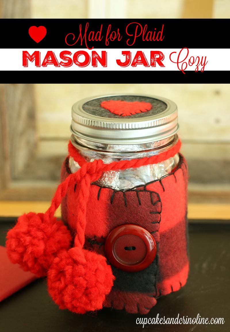 Valentine's Day Mason Jar Cozy from cupcakesandcrinoline.com