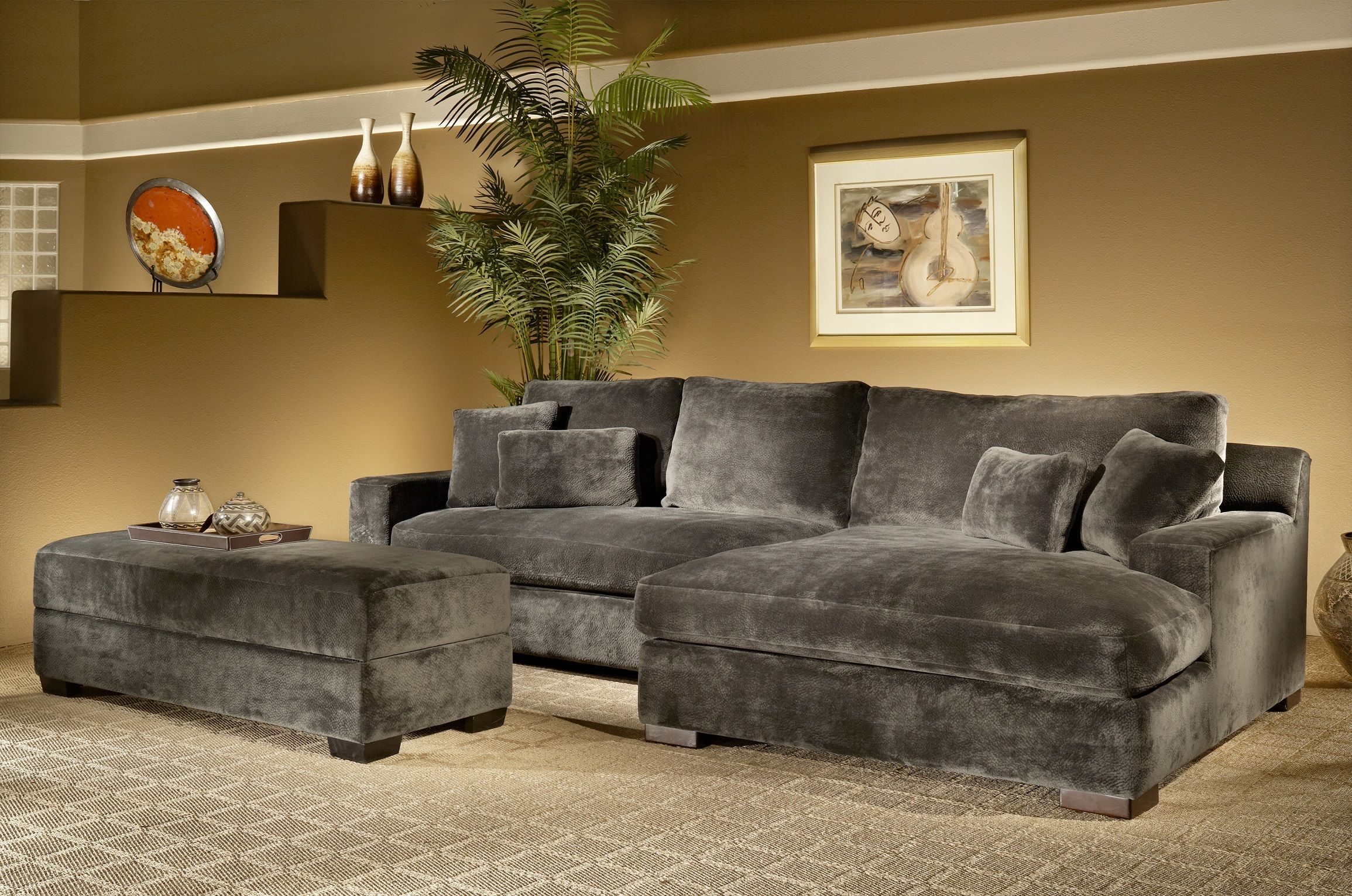 Billy Jean Sectional Sofa Minx Smoke