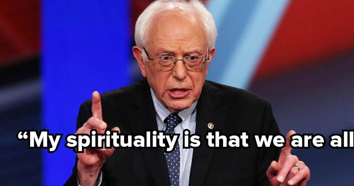 """Bernie Sanders: """"My Spirituality Is That We Are All in This Together"""""""