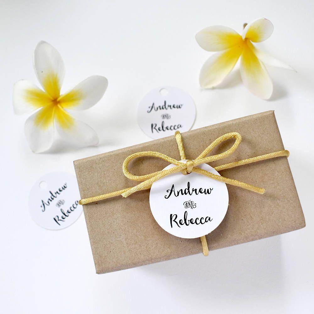 20 x Personalised wedding favour tags, wedding swing tags, wedding ...