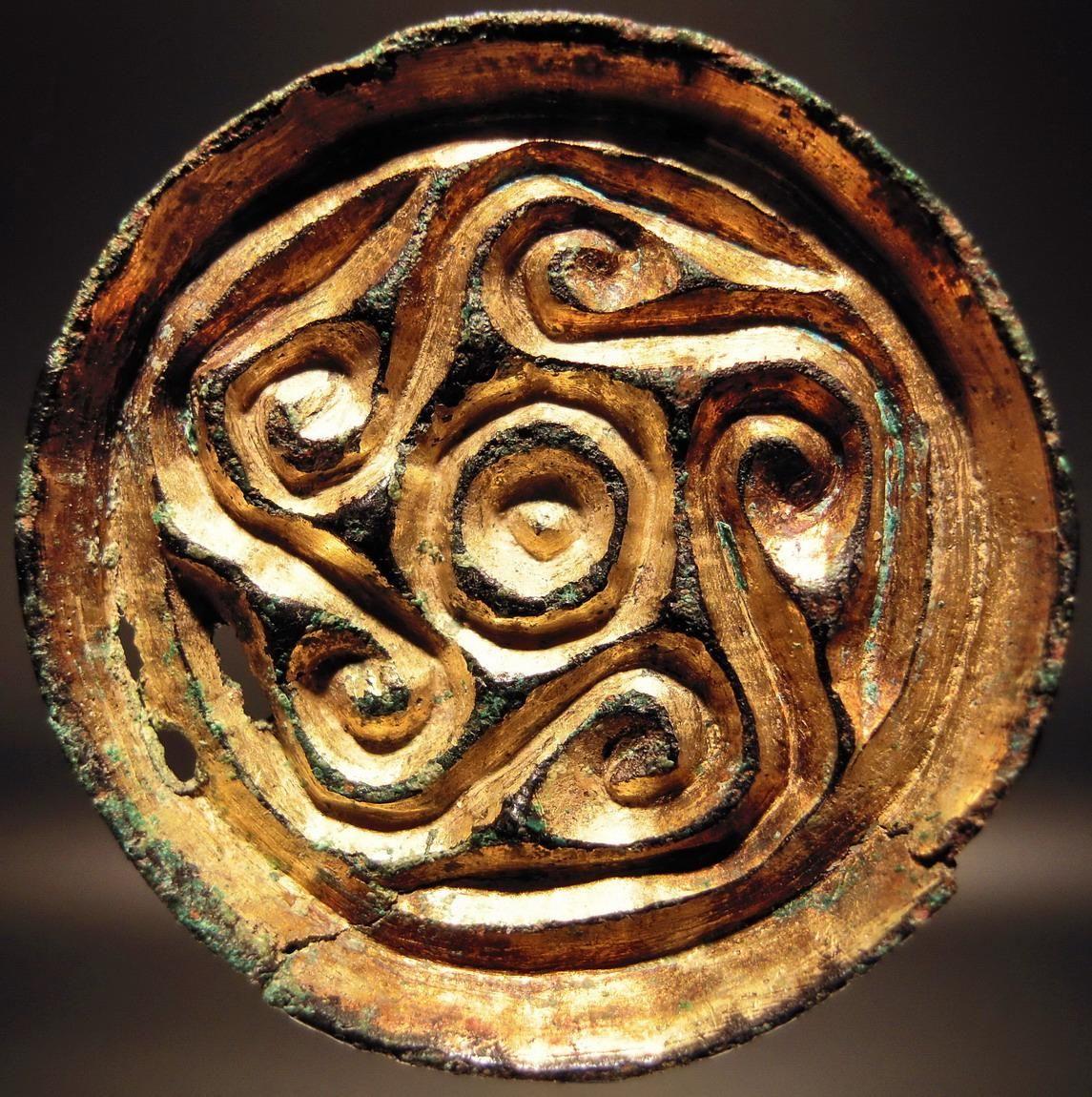 Gilt anglo saxon saucer brooch 5th 6th century ma schmuck gilt anglo saxon saucer brooch 5th 6th century buycottarizona Images