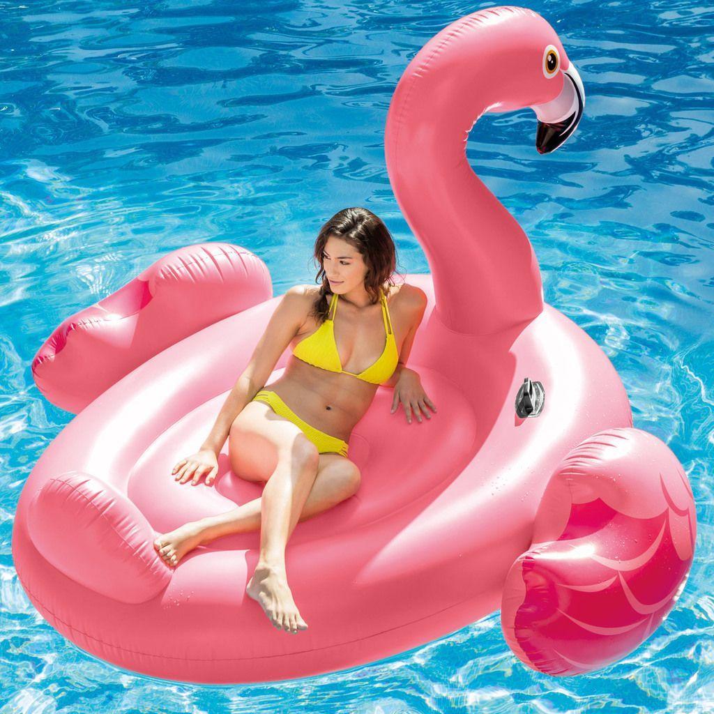 Kopmann Luftmatratze Flamingo 218 X 211 X 136 Cm 2 Personen 136 2 211 218 Cm Flamin Flamingo Float Inflatable Flamingo Pool Float Inflatable Flamingo