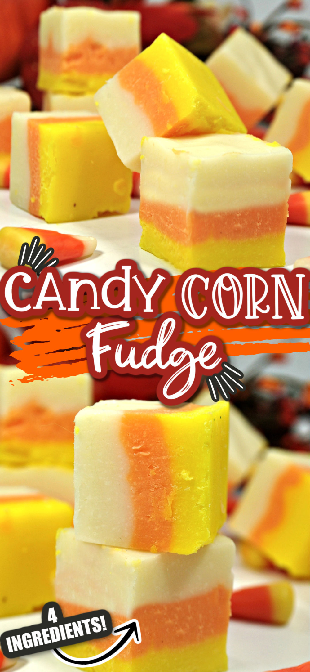 Our Candy Corn Fudge is a delicious and easy Halloween