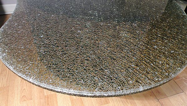 Marvelous Cracked Glass Mirror Table Or Tops