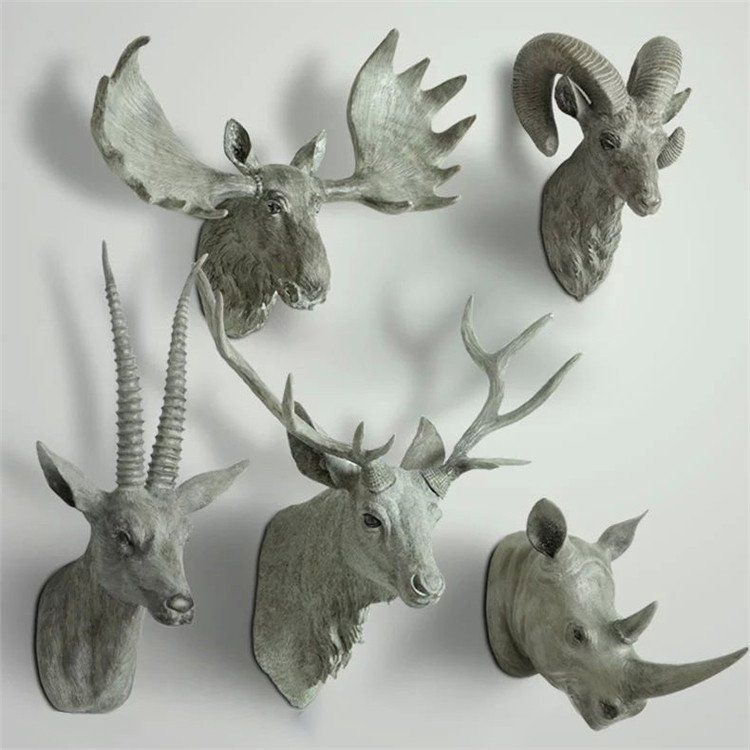 Animal Head Bust Wall Decor Deer Buck Rhino Antelope Bust