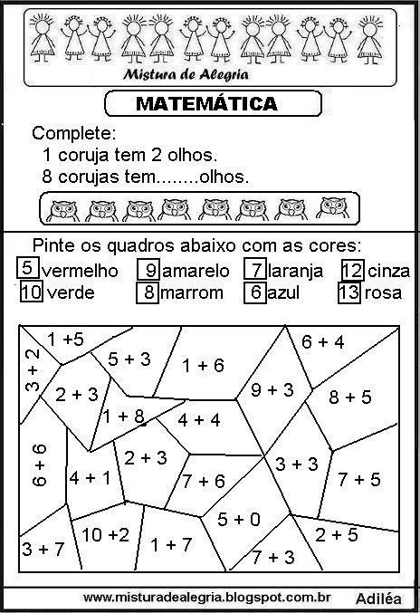 Excepcional Atividades de matemática séries iniciais de alfabetização  GW54