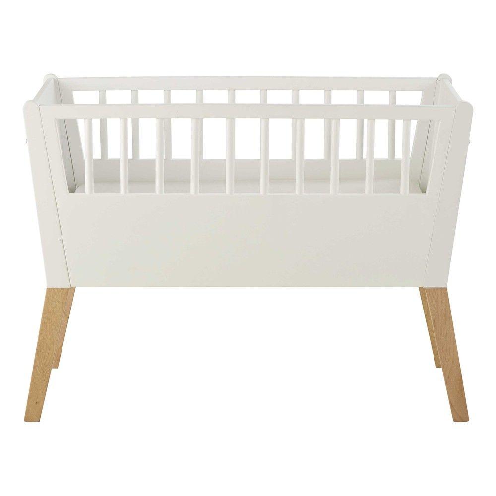 Cuna de bebé de madera blanca ... - Sweet | Casa | Pinterest | Cunas ...