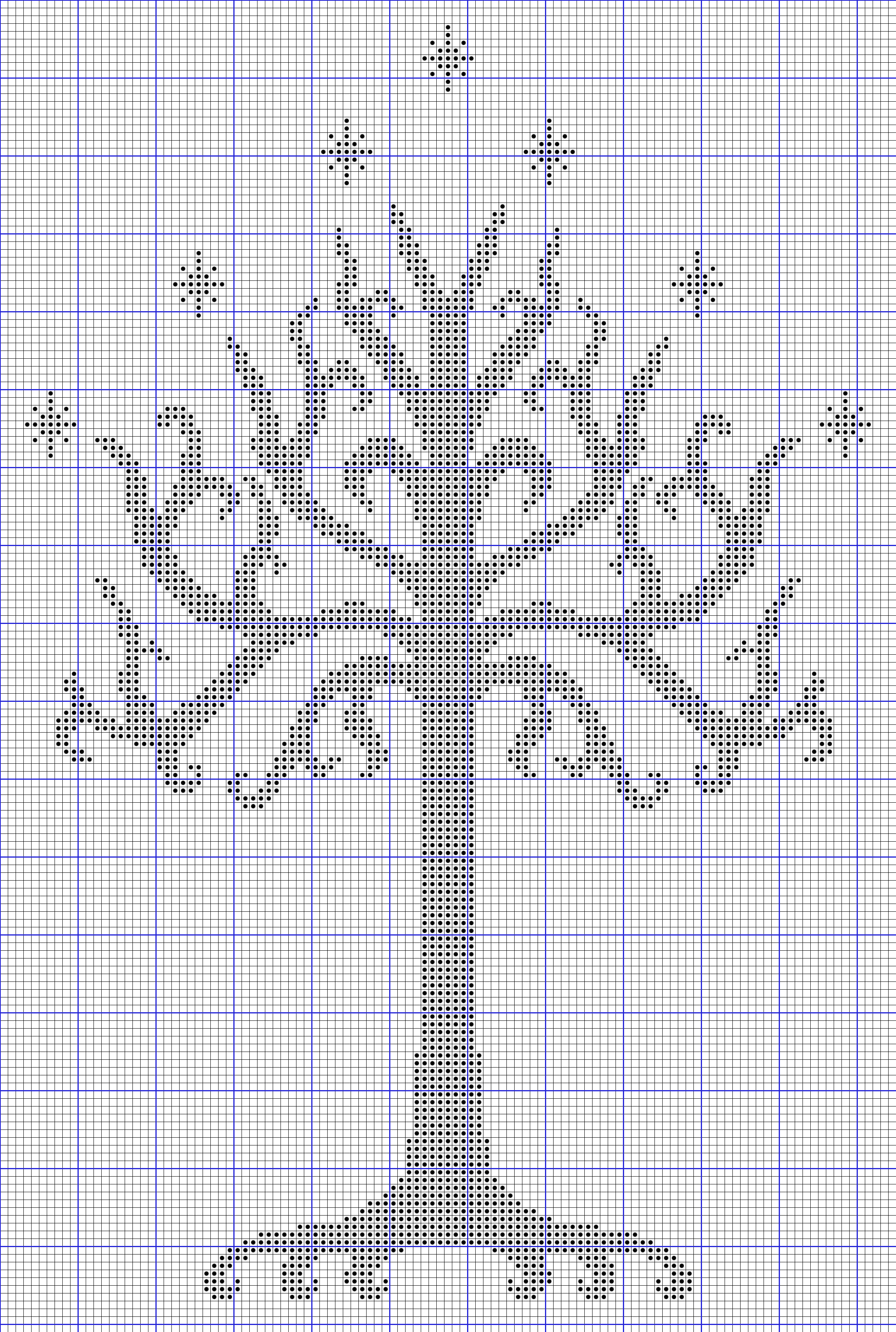 white tree of gondor free cross stitch pattern | Fun Freebies ...