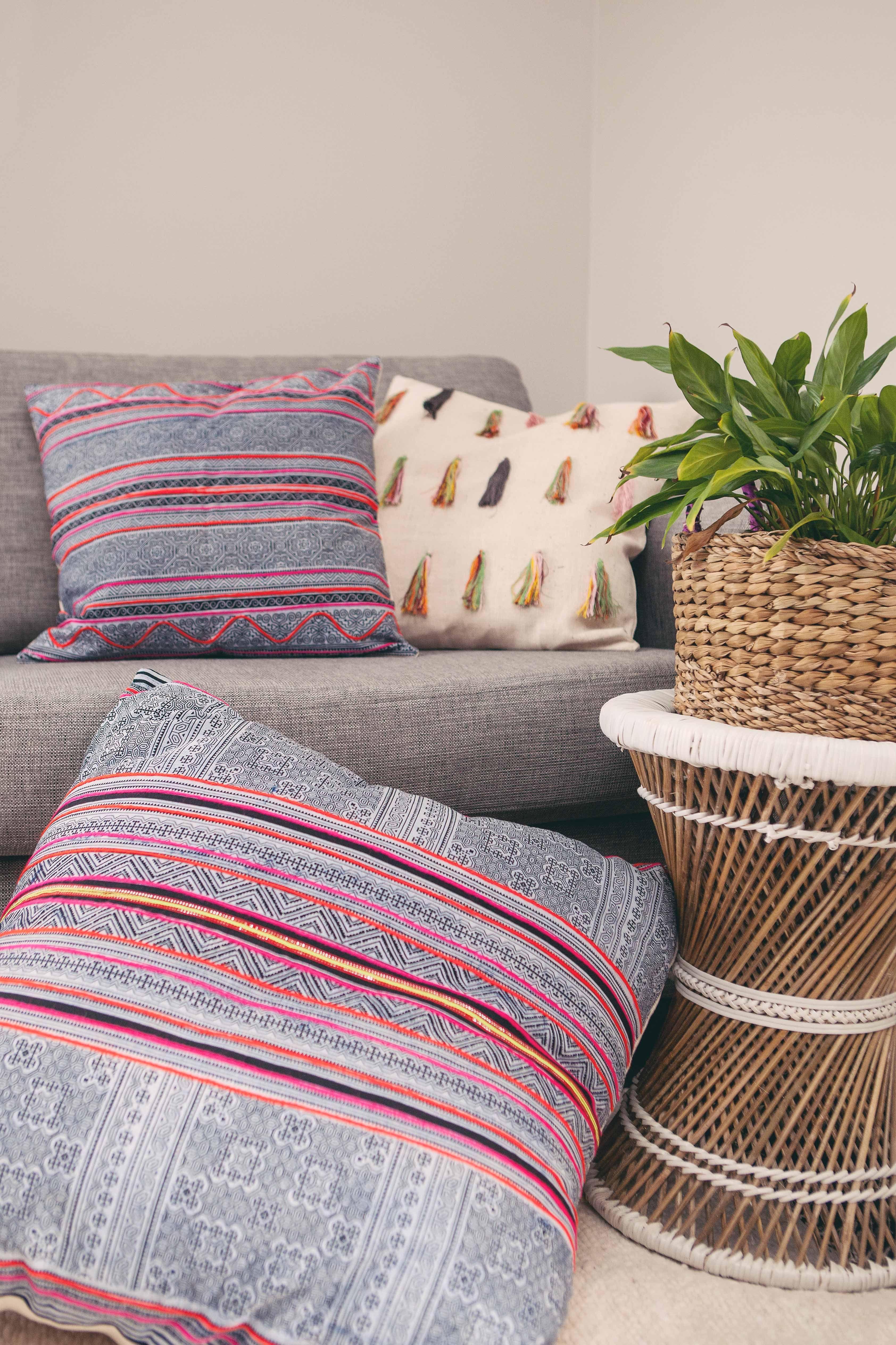 Thai cushion covers fair trade hand made trade aid