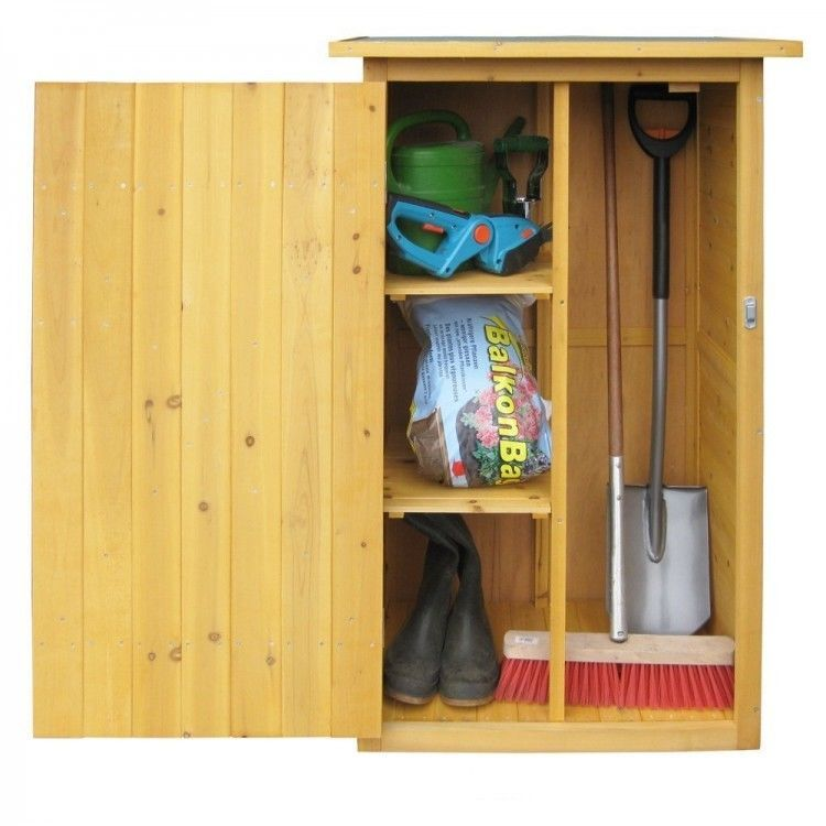 Wooden Outdoor Cupboard Garden Storage Organiser Tools Shed Small Cabinet Box
