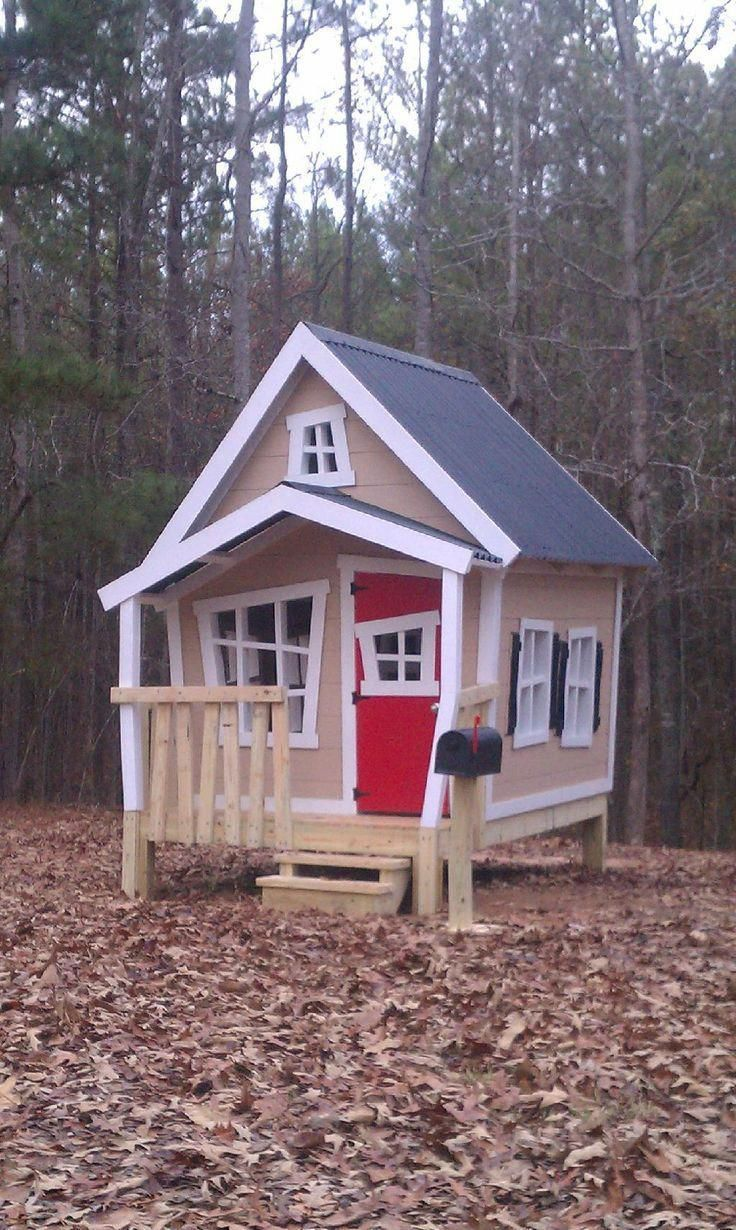 Outdoor Playhouses Outdoor Playhouse Wonky Doors And Windows Could Be Really Cool Reminds Me Of Alice In Wond Play Houses Playhouse Outdoor Big Playhouses
