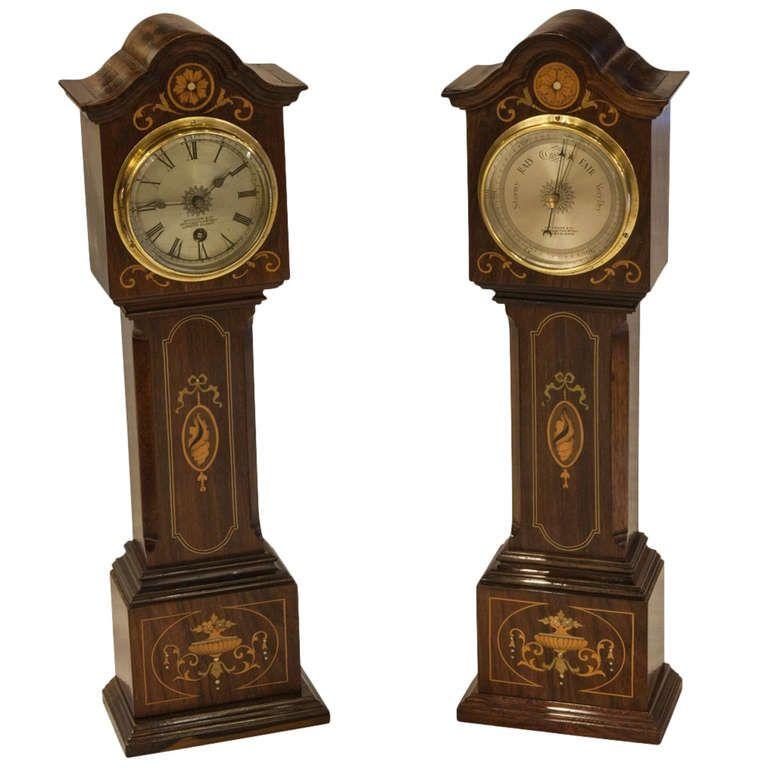 Pair of Miniature Grandfather Clocks