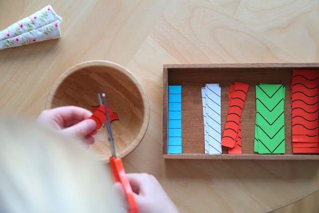 kinderscheren ideen zum schneiden erste schneide bungen nach montessori seerosen basteln. Black Bedroom Furniture Sets. Home Design Ideas