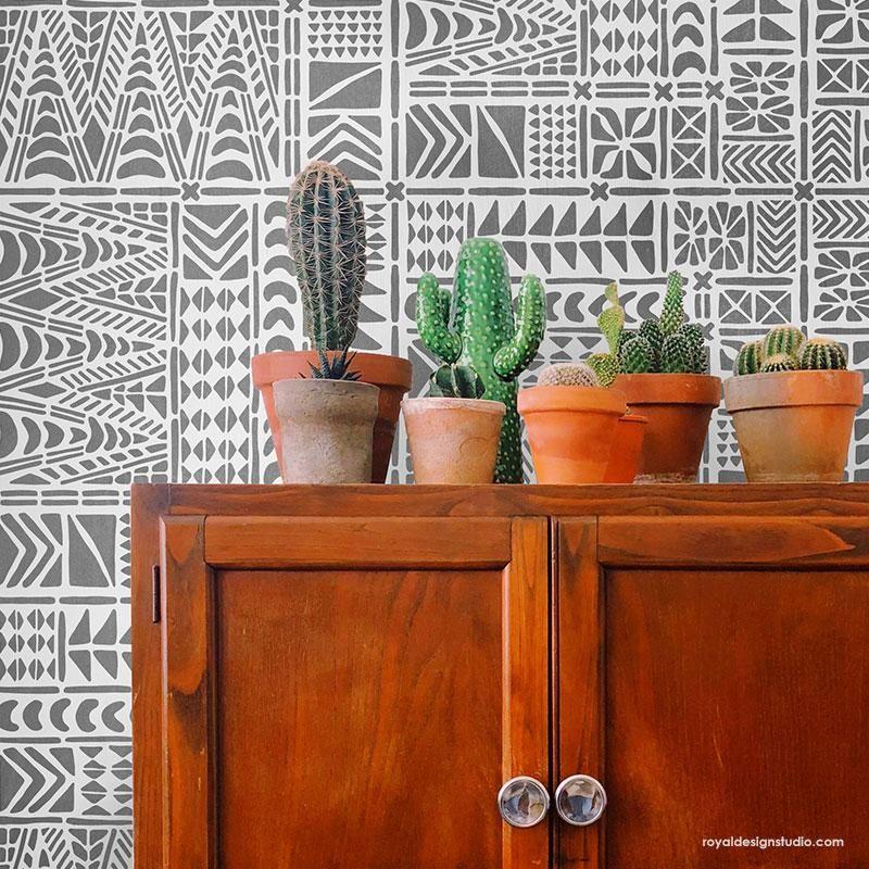 Moana Tribal Tile Stencil