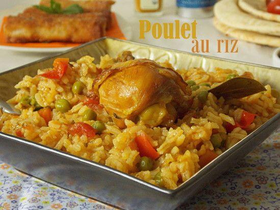riz au poulet / cuisine algerienne | recette | riz, cuisines et poulet