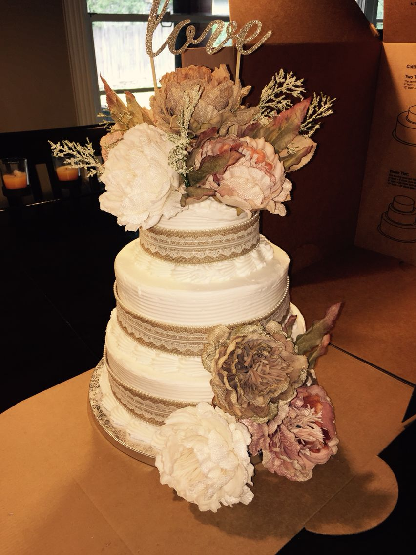 Beautiful Cake So Cheep And Easy Sams Club Flowers From Michaels Wedding CookiesWedding