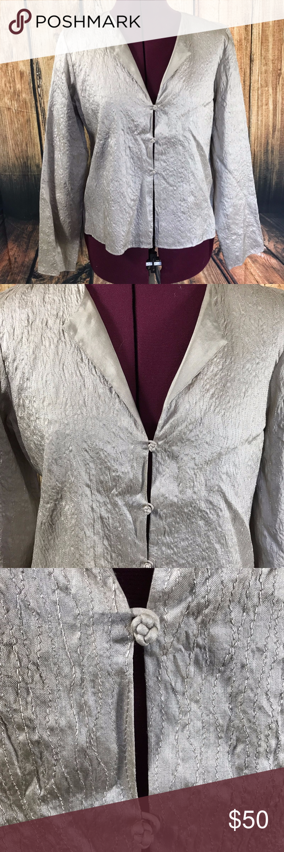 Eileen fisher silk frog button top eileen fisher fisher and closure