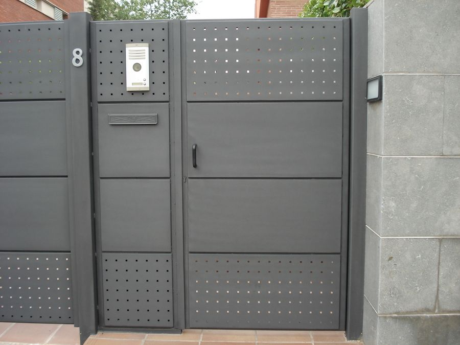 Puertas y Vallas residenciales cercos Pinterest Valla, Rejas y
