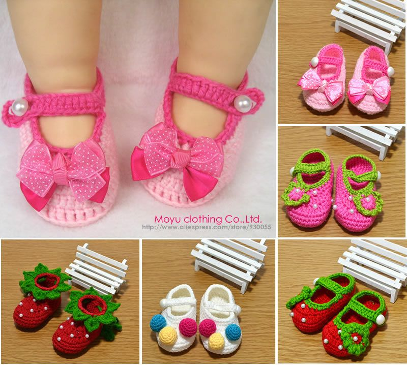 Crocheted+Sock+Patterns+Shoes   ... Crochet Knit Socks Crib Casual ...
