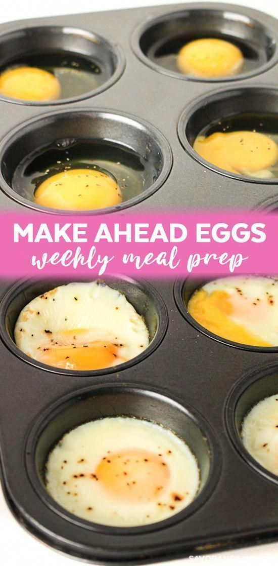 Make Ahead Meal Prep Eggs using a muffin pan  These easy low carb and keto bre