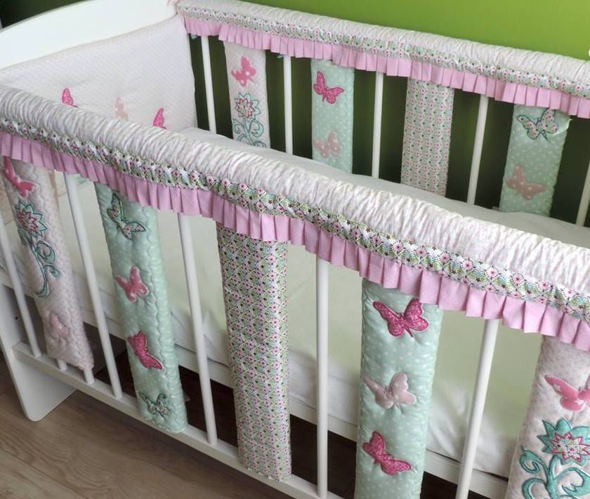 Baby Cot Bar Bumpers Crib Rail Cover Cotton Baby Bedding Crib Teething Rail Guards Cot Bumpers Teet Crib Rail Cover Cot Bar Bumpers Cotton Baby Bedding