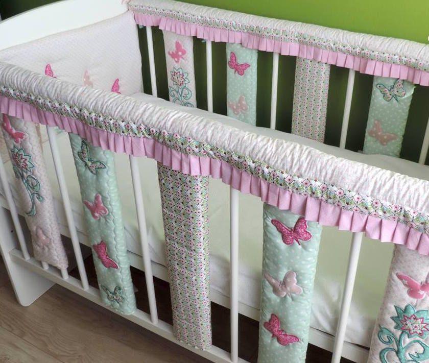 baby cot bar bumpers crib rail cover cotton baby bedding crib teething rail