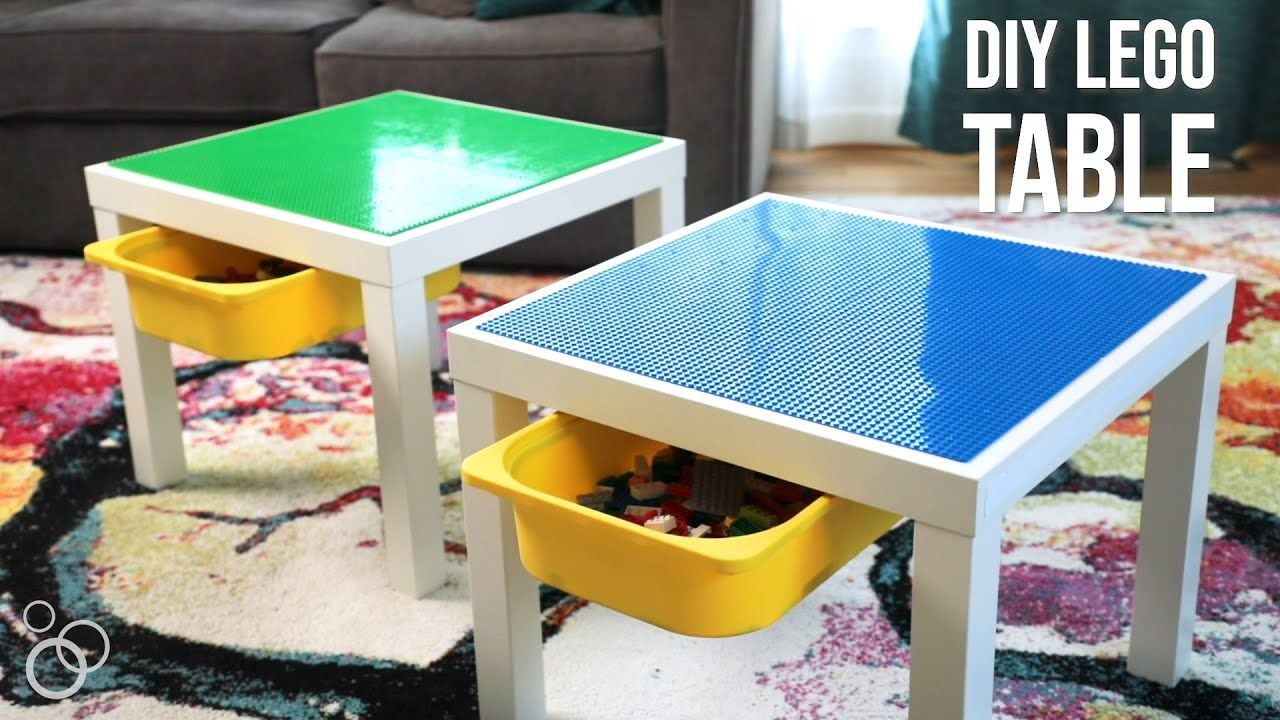 Easy Diy Ikea Lego Table With Storage Youtube Lego Table With