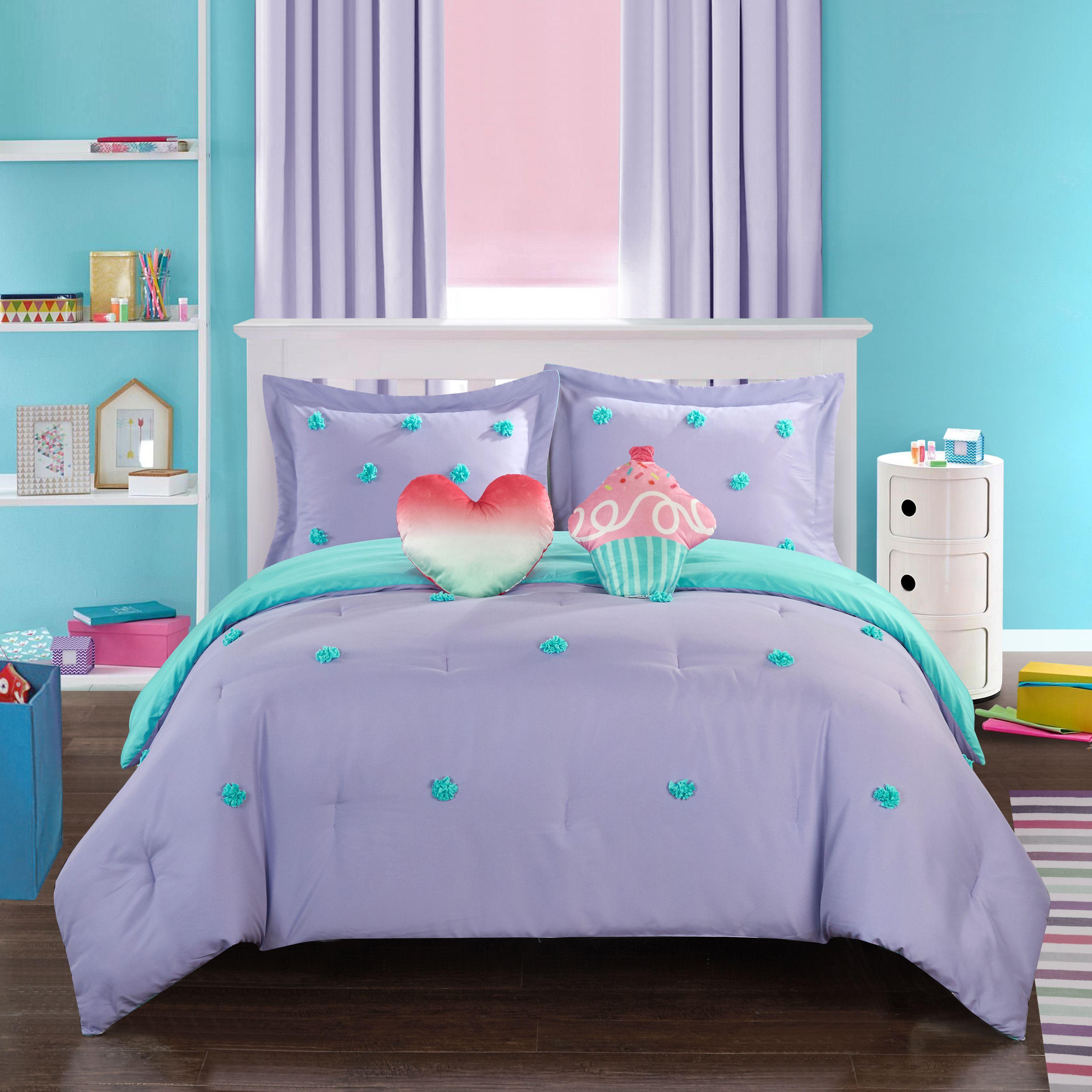 Better Homes Gardens Kids Pom Pom Comforter Set Walmart Com