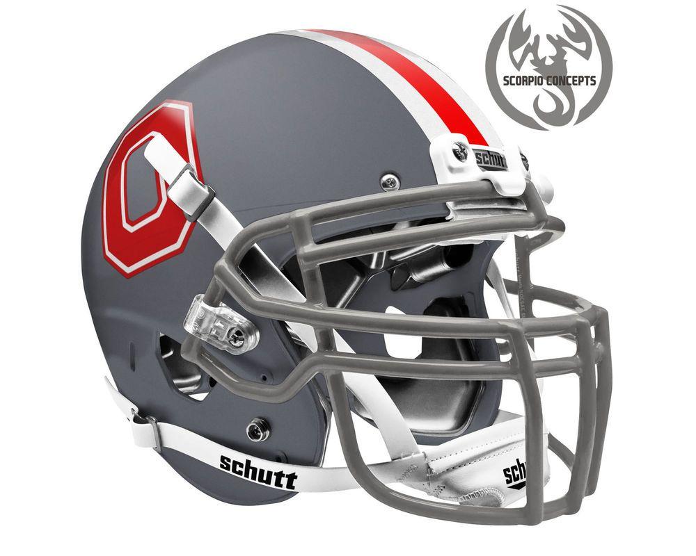 Ohio state buckeyes block o matte gray concept mini