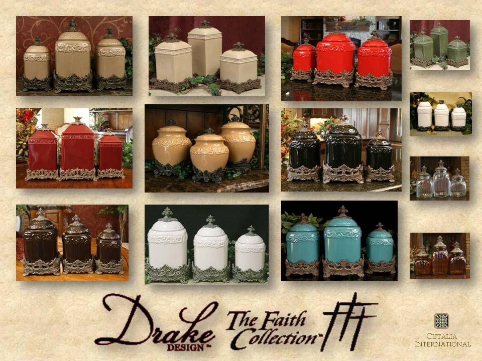 Drake Design Faith Canister Collection