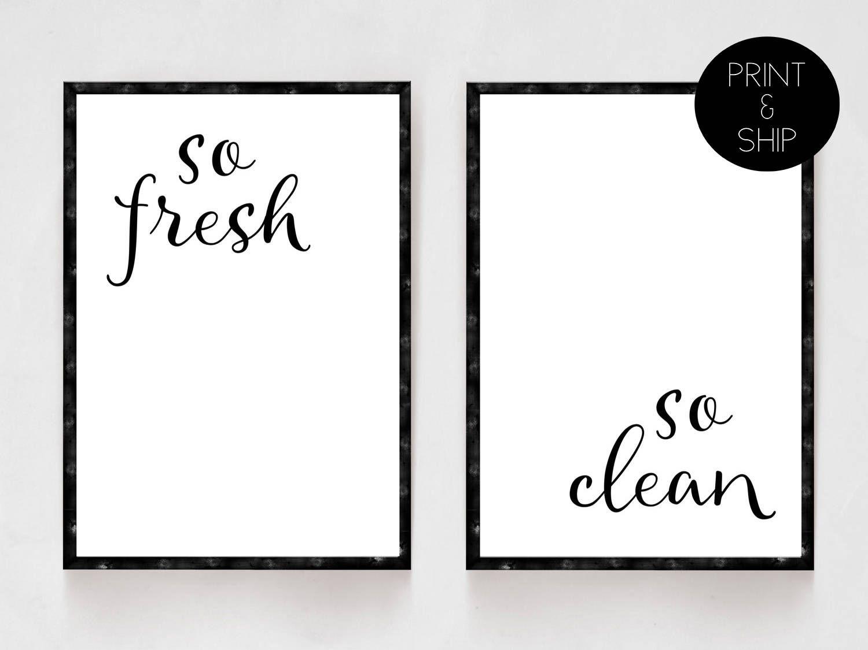 Clean A Bathroom Set bathroom prints, so fresh so clean, bathroom set, bathroom decor