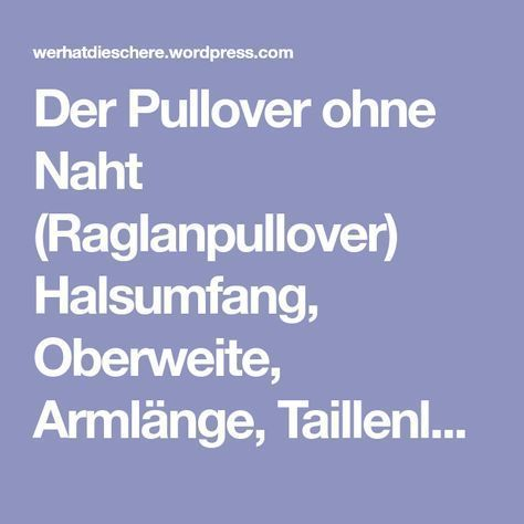 Photo of Pullover ohne Nähte