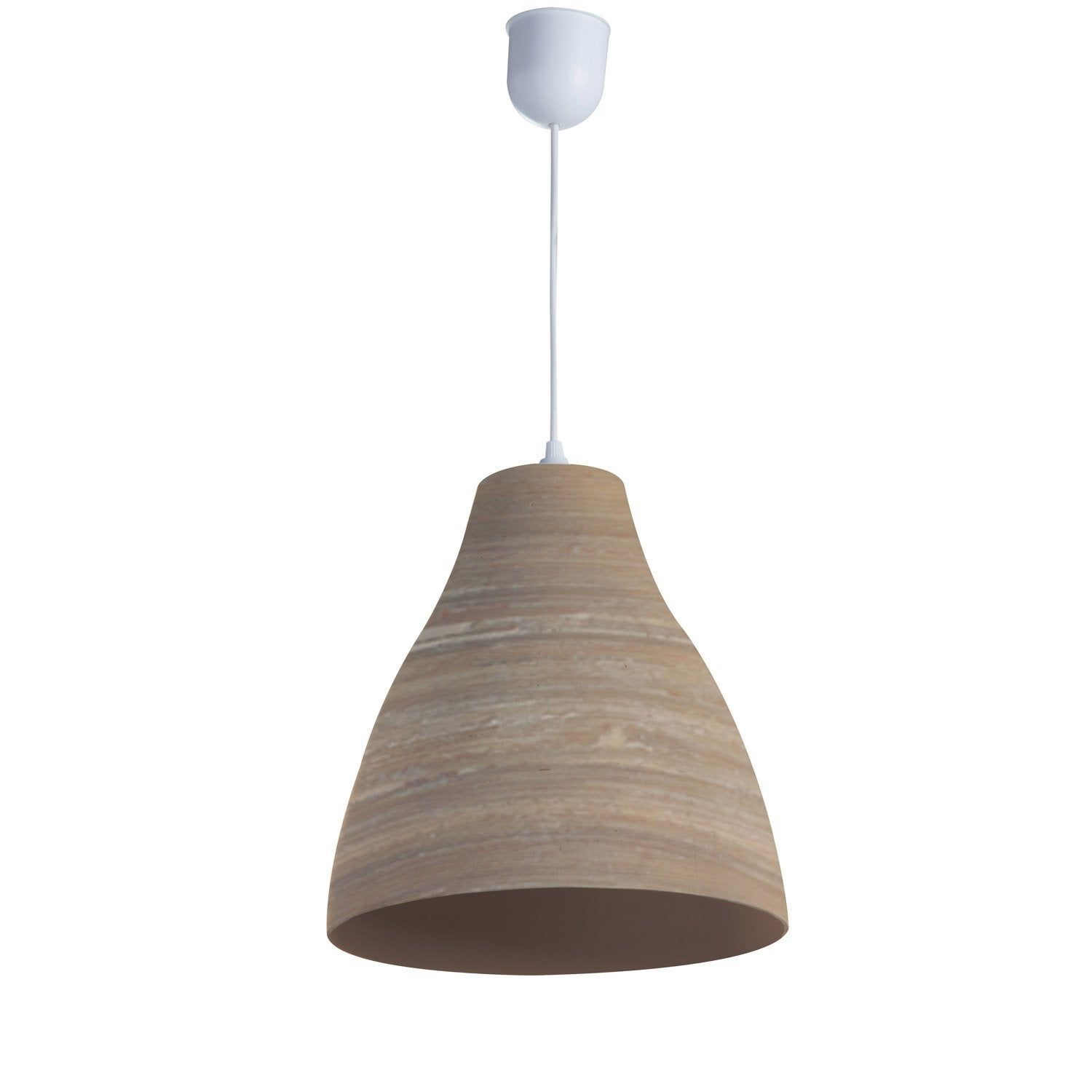 Suspension, e27 bord de mer Calcuta bambou naturel 1 x 60