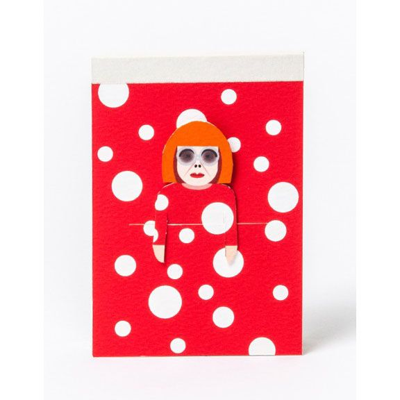 Noodoll Kusama Pocket Sketchbook Get inspired by the greats of the
