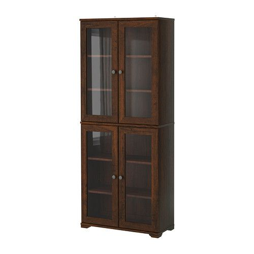 Ordinaire Borgsjo Glass Door Cabinet Brown, From Ikea