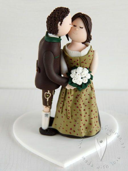 Trachten Brautpaar Hochzeitstortenfigur Fur Die Hochzeitstorte