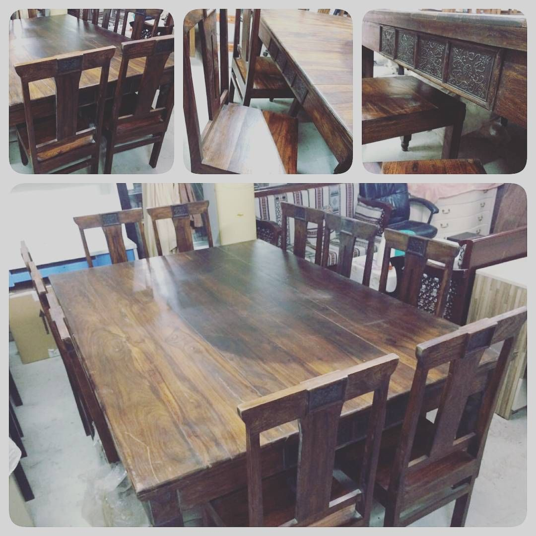 For Sale Wood Dining Table For 10 Person Classic Size 220x150 Price 270 Bd للبيع طاولة طعام خشب طبيعي Dining Table Rustic Dining Table Rustic Dining