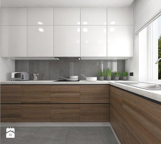 Aranzacje Wnetrz Kuchnia Wnetrze Mieszkania Na Teofilowie Duza Otwarta Kuchnia W Ksztalcie Arredo Interni Cucina Design Cucine Arredamento Moderno Cucina