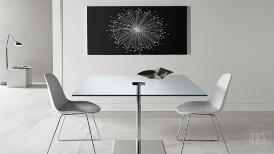 30 Inch Square Glass Table Top Create A Modern Looking Table By Placing The Table Top Glass On A Base Or Use Dining Table Glass Top Table Metal Dining Table