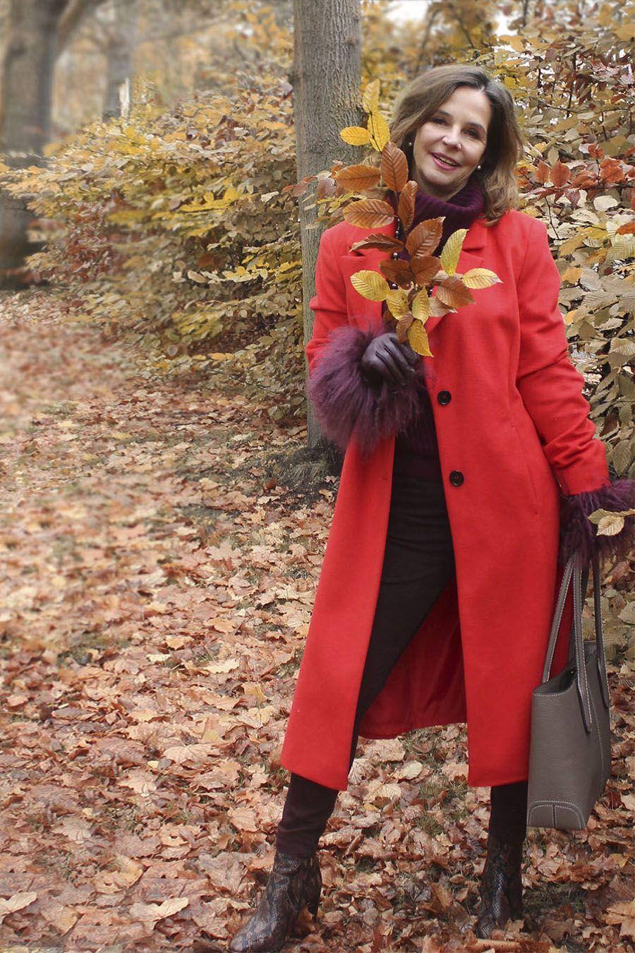 Roter Damen Blazer Mantel Aus Wolle Fur Die Wintermode 2020